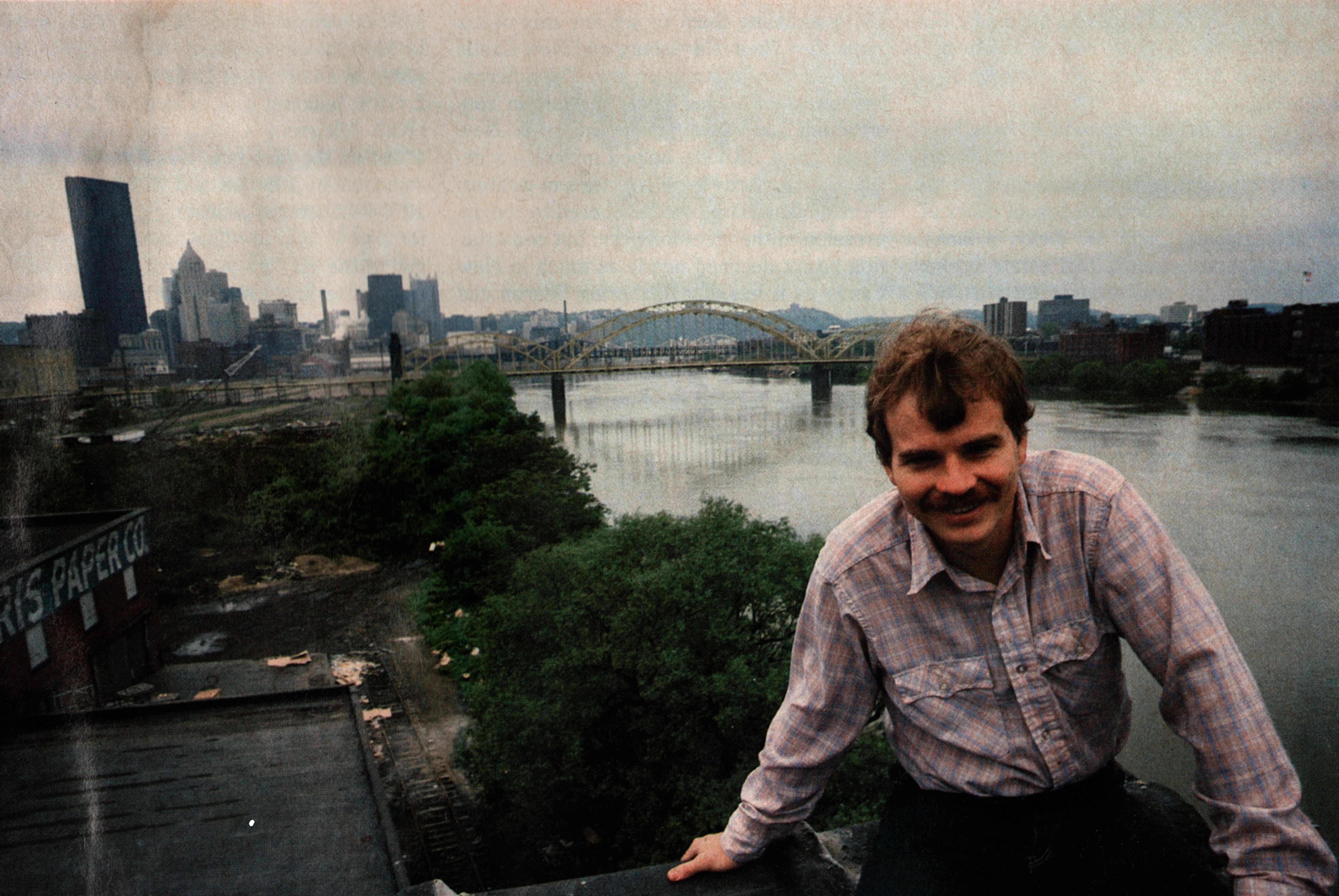 Sullivan overlooking Buncher's city land.
